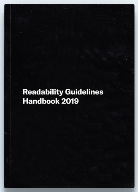 readability guidelines handbook
