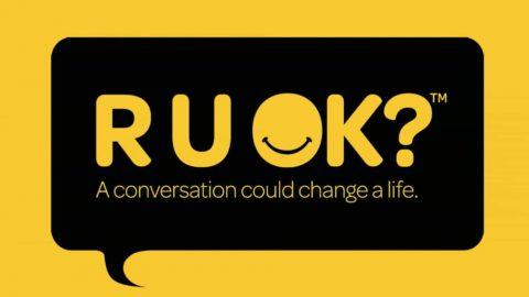 Text: R U OK? A conversation could change a life.