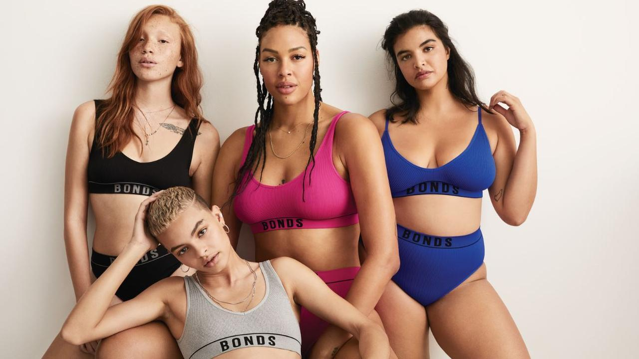 Image of Bonds Diversity Campaign showing 4 female of different sizes and ethnicities.